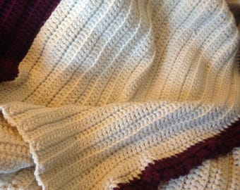 Hand crafted one of a kind Crochet Afghan.  Titled Wine.