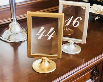 Table Numbers Wedding Party 10/15 Photo Frame