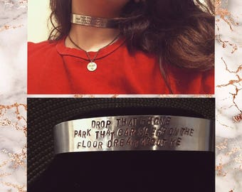 Metal Poetry Choker/Necklace