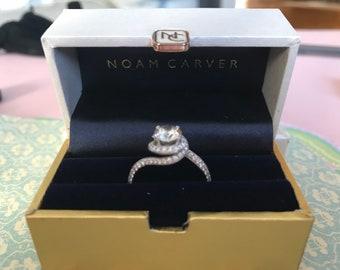 18k white gold 1.44ctw diamond A.Jaffe engagement ring