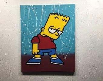 Bart Simpson acrylic painting
