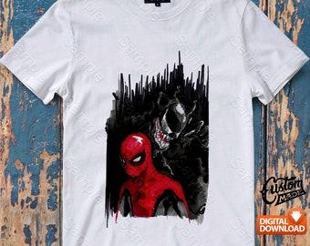 Spiderman Iron On Transfer, Spiderman Birthday Shirt DIY, Spiderman Shirt Designs, Spiderman Printable, Personalize, Digital Files