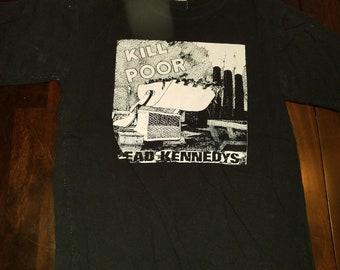 Dead Kennedy's hemmed shirt