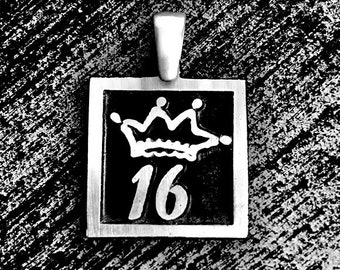 925 Sterling Silver Sweet Sixteen Charm/Pendant