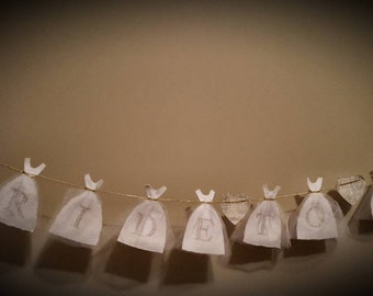 Bride Gown Bunting Banner