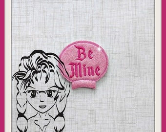BE MINE Valentine Ear (Add On ~ 1 Pc) Mr Ms Mouse Ears Headband ~ In the Hoop ~ Downloadable DiGiTaL Machine Embroidery Design by Carrie