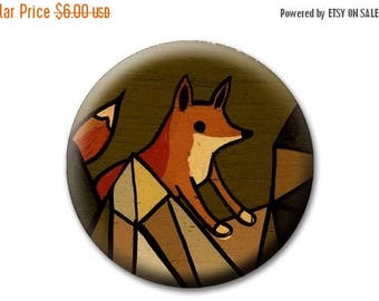 ON SALE little FOX Purse Mirror - bohemian style, boho gifts, travel accessories, rustic gifts for her, unique gifts for sisters, gifts for