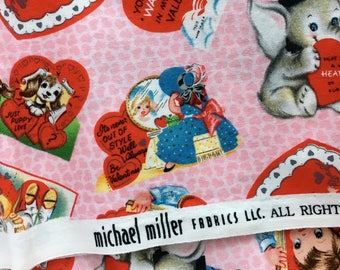 DESTASH: Michael Miller My Valentine Fabric - 1/2 Yard