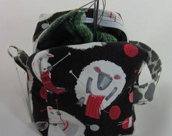 Knitting Sheep Sock Box