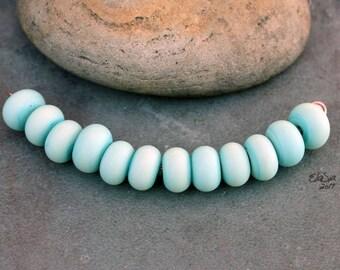 Patina Green Spacers - Handmade Lampwork Glass Beads - SRA Elasia - MTO