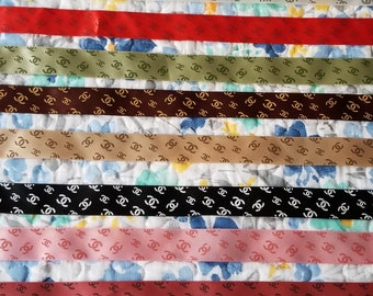 8 yards silk satin Ribbon multi colored designer precut craft diy supply