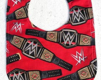 Wrestling Baby Bib - infant - dribble bib - baby shower gift - baby boy girl - wrestling belt