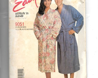 McCall's Misses' , Men's or Teen Boys' Robe and Tie Belt Pattern 9051