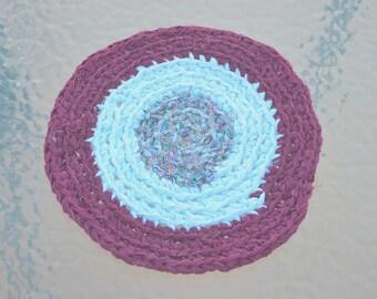 Hand Crocheted Cotton Blend Rag Trivet