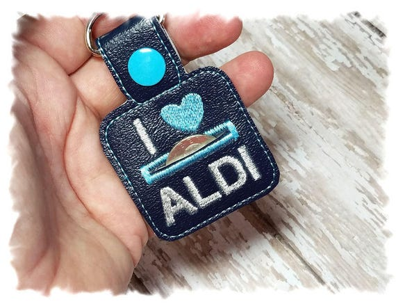 Aldi Quarter Keeper, Aldi Keychain, I Love Aldi, Aldi Key Fob, Navy Blue