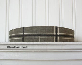 Plaid Headband Gray and Black - Womens Headband - Fabric Headband - Womens Hair Accessories