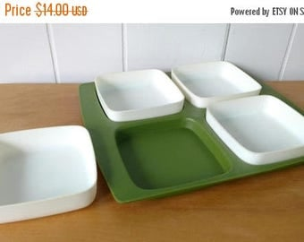 LOVE SALE vintage plastic divided tray