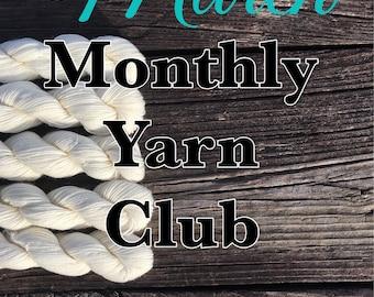 March Monthly Yarn Club - Lagniappe Sock  - Variegated Yarn - Fluer Sock - Ça c'est bon - Mini Skein Set