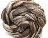 Corriedale Humbug Combed Wool Top 100g 3.5oz