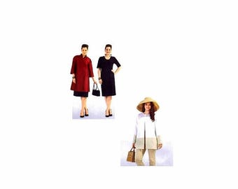 SALE Womens Dress and Coat Burda 7102 Sewing Pattern Size 18-20-22-24-26-28-30-32 UNcut