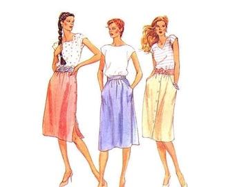 SALE Misses Skirts McCalls 7076 Vintage Sewing Pattern Size 8 OR Size 12 UNCUT