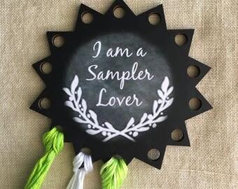 Floss organizer thread keep Sampler Lover embroidery chalk art floss holder
