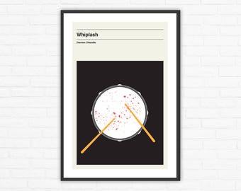 Whiplash, Damien Chazelle, Minimalist Movie Poster