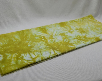 NEW Hand Dyed Cotton Polyester Bottom Weight Fabric - Rodeo Cotton Dyed in Gold With Starburst Pattern 24 x 32 inches