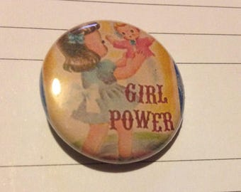 GIRL POWER 1 Inch Pin