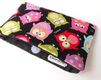 Catch All Clutch ECO Friendly Padded Pouch Z Owls NEW item