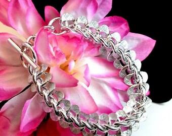 Christmas In July 40% Off Silver Tone Chain Bracelet Link Bracelet Lightweight Bracelet Vintage Bracelet 1980 Link Bracelet