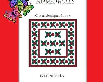 Framed Holly - Crochet Graphghan Pattern
