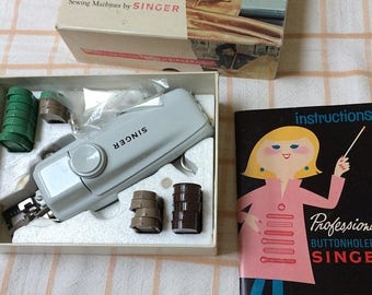 1/2 off Blowout Sale Singer Professional Buttonholer for Vintage Slant Shank zig zag sewing machines. Singer Touch and Sew, Rocketeer, Slant