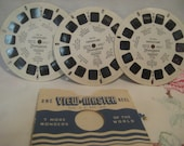 Assorted View-master Discs, Disney, Travel, Cowboys, Geography, Cartoons, Fairy Tales, Christmas, Bible Story