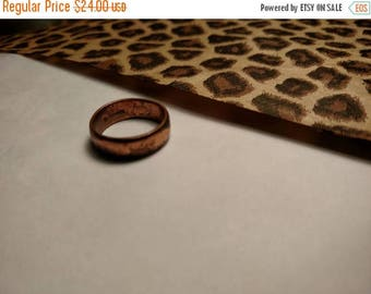 Flash Sale 1960s Vintage Rustic Marked solid Copper Band Ring Size 7