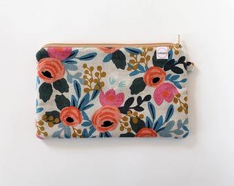 zipper pouch, cash envelope, Eyeglass case, Pen pencil, cash wallet, Cosmetic makeup bag, Brown canvas bag, sunglasses canvas cotton steel