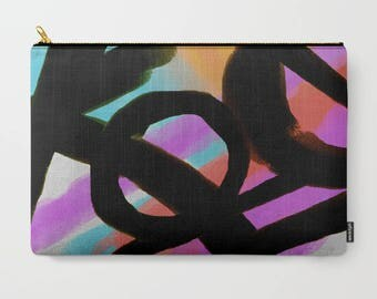 Colorful Abstract Art Carry All Pouch Clutch Bag Purse Cosmetics Bag