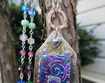 PAINTED HOUSES PENDANT  Instructor - Vivian Lambert - Sunday, July 23, 2017, 10 - 4