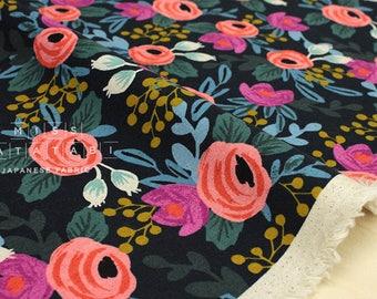 Cotton + Steel Menagerie canvas - rosa - navy - fat quarter