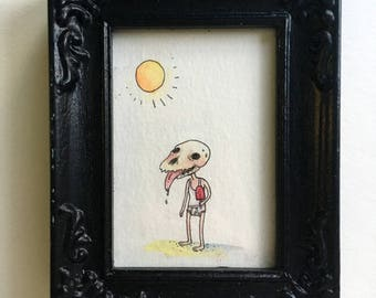 Heat Wave - Miniature original art