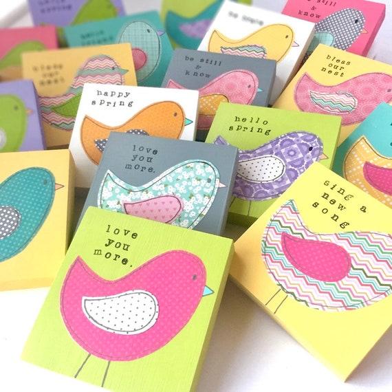 Woodland Animals • Bird Art • Spring Decor • Nursery Decor • Christian Home Decor • Easter Decorations • Best Friend Gift Inspirational Art