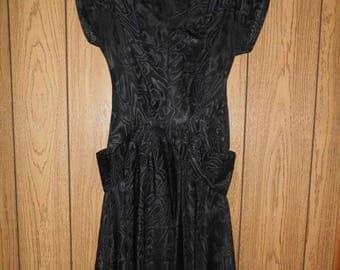 Closing Shop 40%off SALE SALE SALE Vintage womens clothing 50's 1950's black  dress