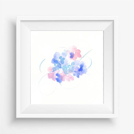 "Original watercolor flower painting: ""Flowers and Flourish"""
