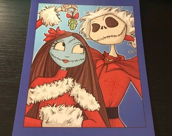 Nightmare Before White Christmas Postcard (Item 09-410)