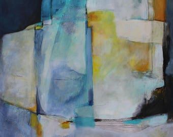 Geometric Contemporary Abstract 30 x 40 Stormy Nights  by artist and author Jodi Ohl