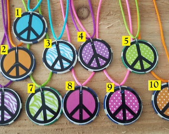 Peace Poker Chip Necklace