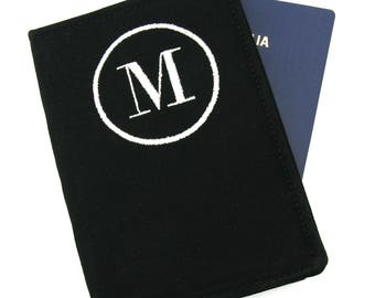 Men's Personalized Initial Passport Cover, Monogram Passport, Embroidered Passport Cover, Passport Holder, Husband Gift, Passport Case