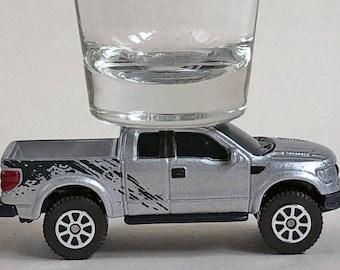 the Original Hot Shot shot glass,  Ford F-150 SVT Raptor, Pick Up, Maisto car