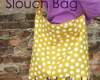 SALE PDF Purse Sewing Pattern - Slouch Bag - easy project for beginners by Aivilo Charlotte - instant download