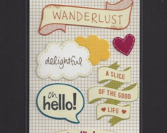 amy tangerine (R) Dreaming / Fabric Stickers / 9 Stickers / Wanderlust / Oh hello!